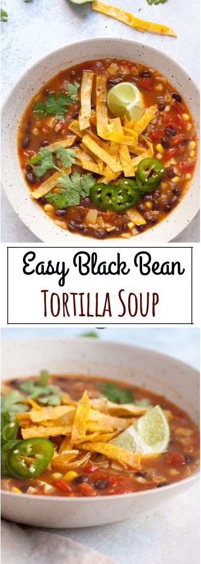 Easy Black Bean Tortilla Soup