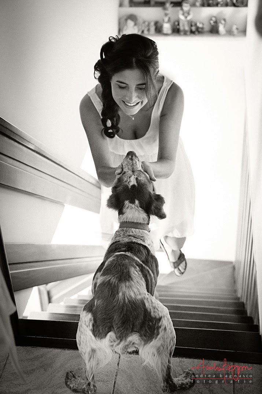 ritratto sposa col suo cane matrimonio Savona