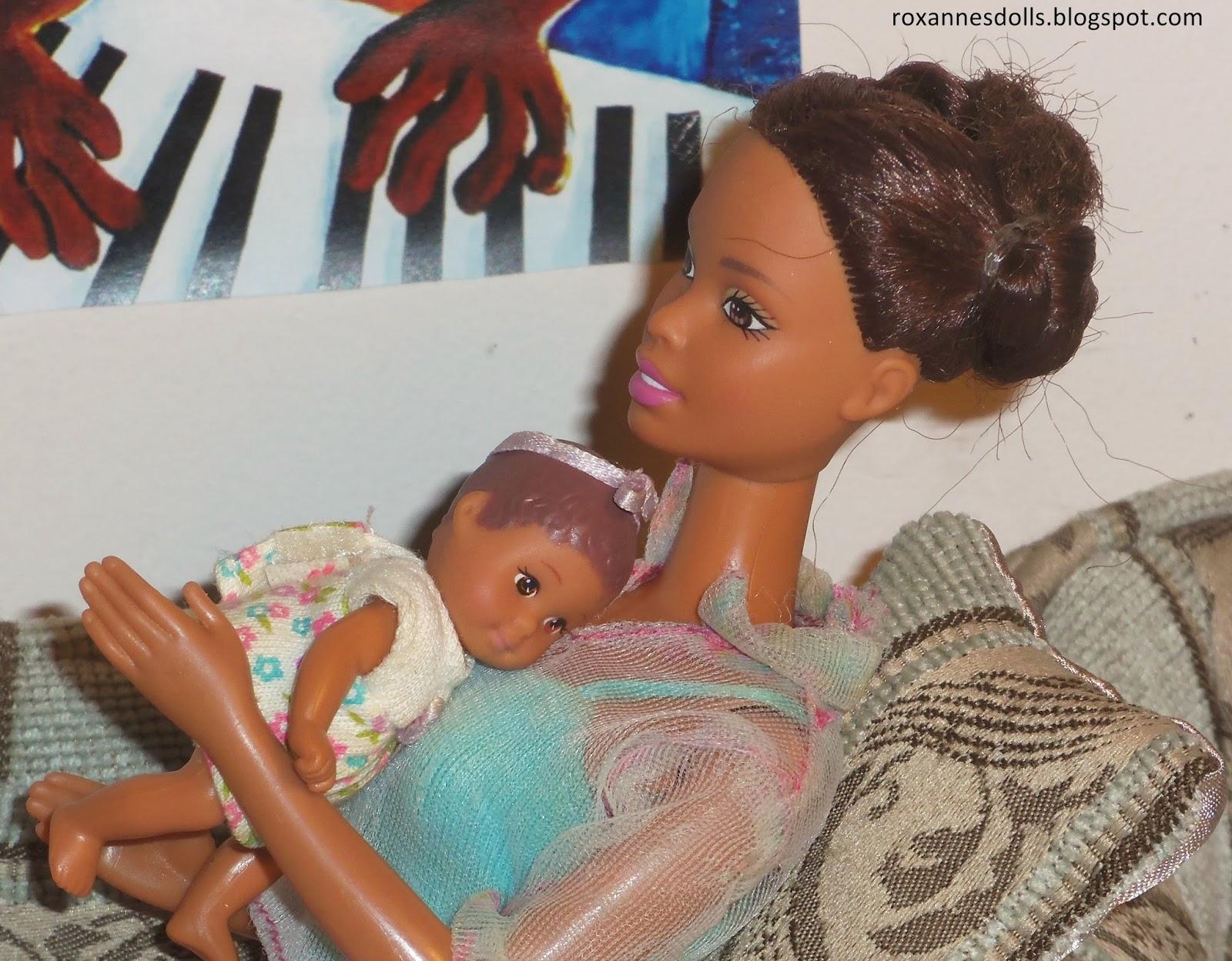 Roxanne S Dolls Walking Barbie And Baby Krissy