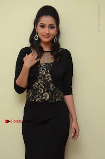 Telugu Actress Manasa Manohar Stills in Black Long Dress at Naku Nene Thopu Turumu Trailer Launch  0013.JPG