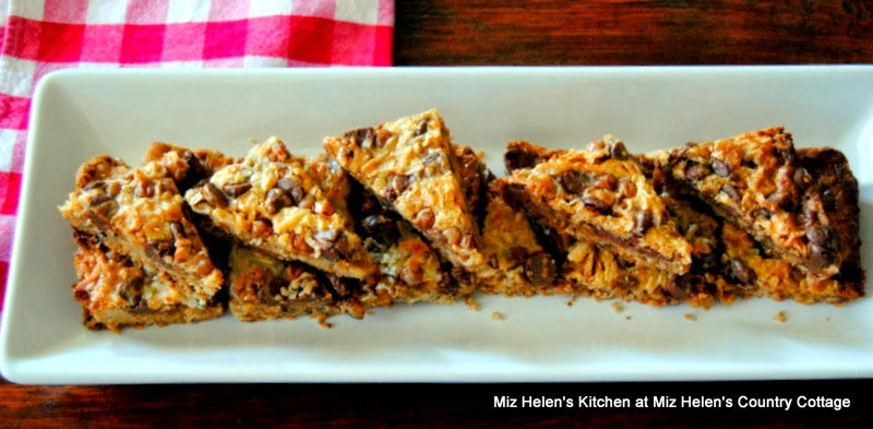 Caramel Chocolate Pecan Bars at Miz Helen's Country Cottage