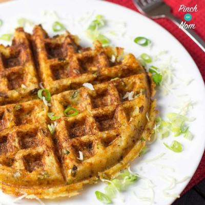 24. Waffle ubi manis keju dan bawang