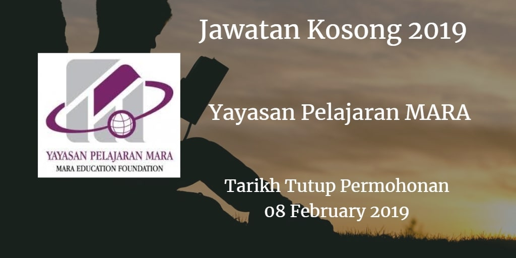 Jawatan Kosong Yayasan Pelajaran MARA 08 February 2019