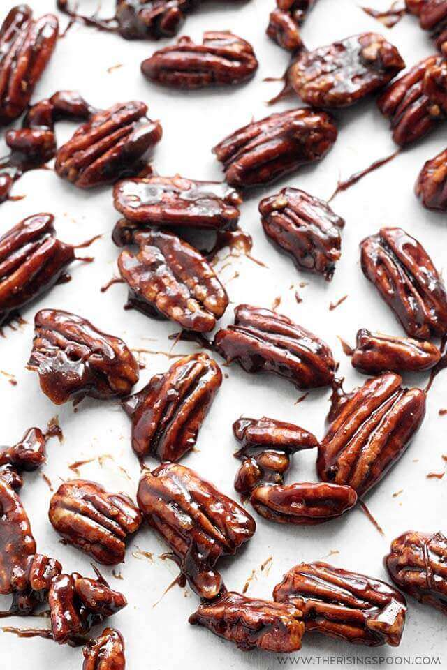 Easy & Healthy Candied Pecans For Salad
