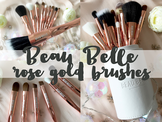 Rose gold brush collection from Beau Belle