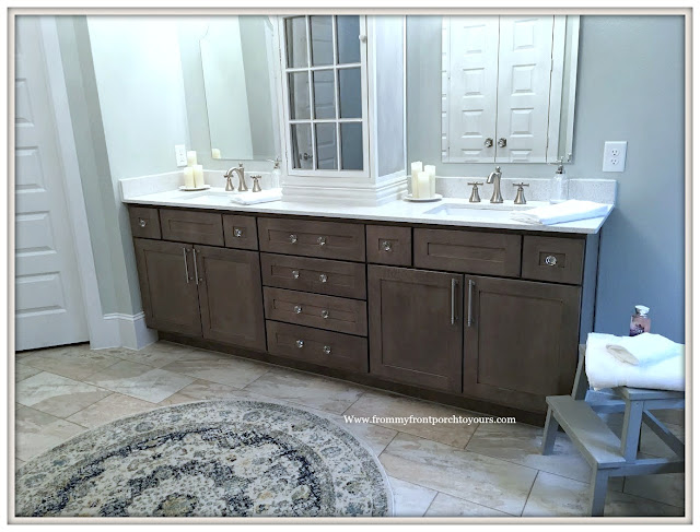 Master Bathroom Makeover-Reveal-French Country-French Farmhouse-Cottage Style-Cabinet Hardware-Crystal knobs-From My Front Porch To Yours