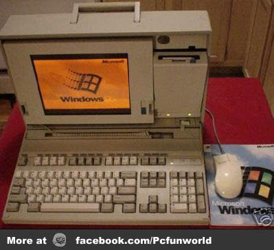Windows 95 Briefcase Computer