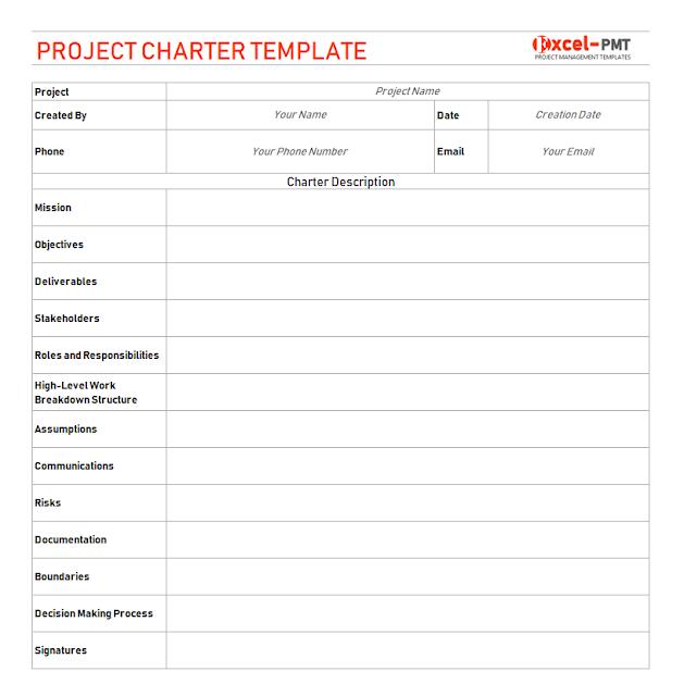 Project Charter Template: Project Charter Template - Project Management
