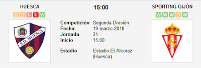 Huesca vs Sporting Gijón en VIVO