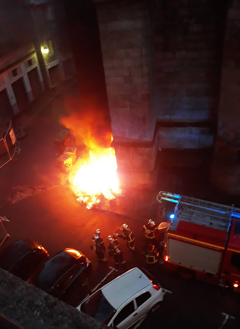 L'intervention des pompiers la nuit du samedi 03 mars... Photo DR Ouest-France