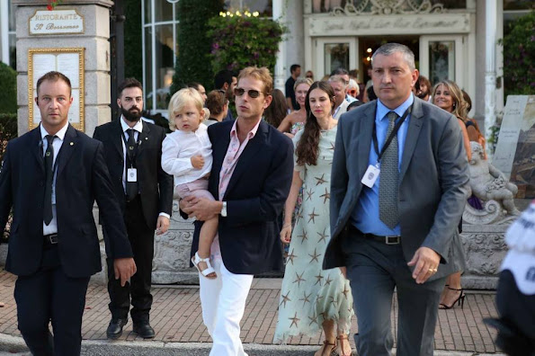 Andrea Casiraghi and Tatiana Santo Domingo and Sasha