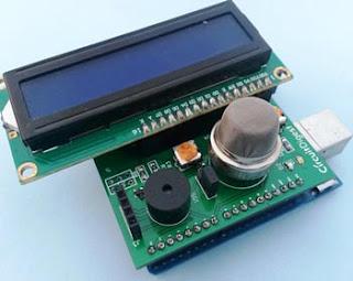 Detector de humo con Arduino LCD 2X16 EasyEDA.