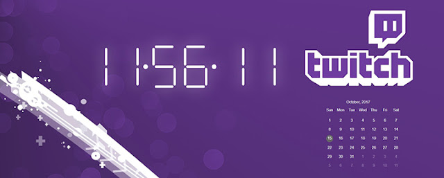 Twitch Clock Wallpaper Engine