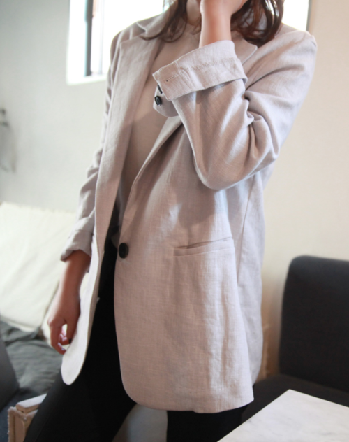 Long Sleeve Single-Breasted Trench