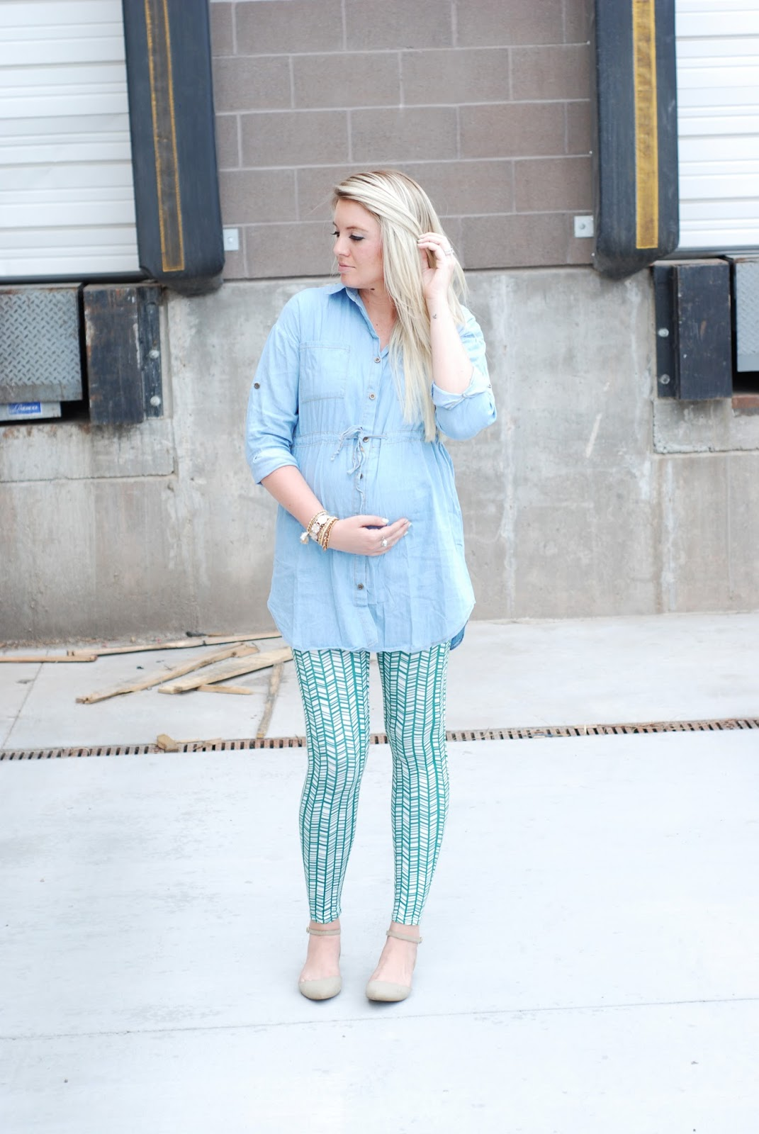 Oh La La Leggings, Pink Blush Maternity, Blonde Hair
