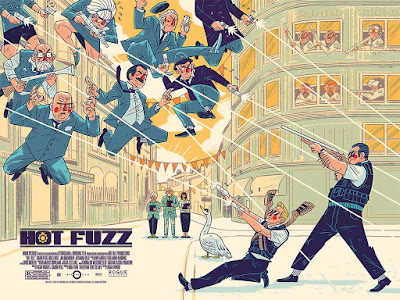 Edgar Wright's Cornetto Trilogy Movie Poster Screen Prints by Logan Faerber x Mondo - Shaun of the Dead, Hot Fuzz & The World's End