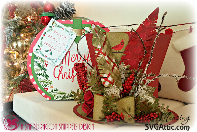 DCWV Merry Memories and SVG Attic Mourner's Hat created by Lisa In the Crafting Cave for The Magic of Christmas Blog Hop