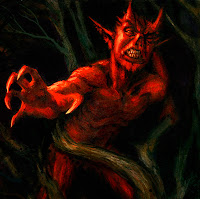 Diablo atrapado en el manzano - Jack-o'-lantern