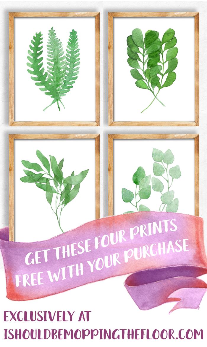 Watercolor Leaf Printables