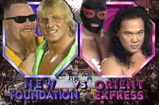 WWF ROYAL RUMBLE 1992 - The New Foundation (Jim 'The Anvil' Neidhart & 'The Rocket' Owen Hart) vs. The Orient Express (Kato & Tanaka, w/ Mr. Fuji)