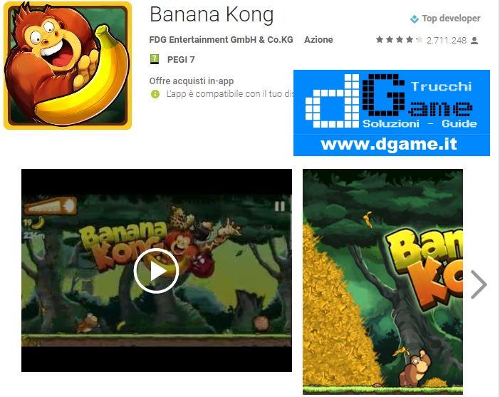 Trucchi Banana Kong Mod Apk Android v1.9.3