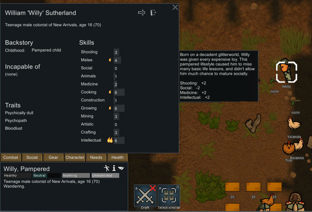 Space Gaming Fun Time Rimworld The Great Chicken Cult Part 1 At