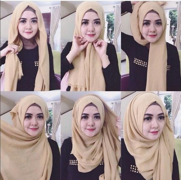 Cara Memakai Hijab Segi Empat Untuk Tampil Kekinian