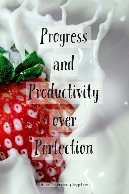If I don't put progress and productivity over perfecting blog and social media posts, I won't accomplish my dot com lifestyle. How about you?