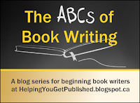 Logo for weekly blog series for beginning book writers