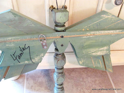 back view table leg dragonfly using decorative molding