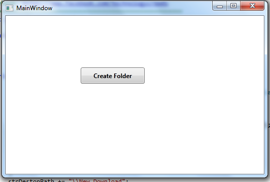 Create Folder Button