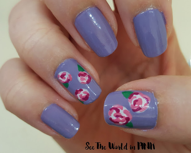 manicure monday - easy rose nail