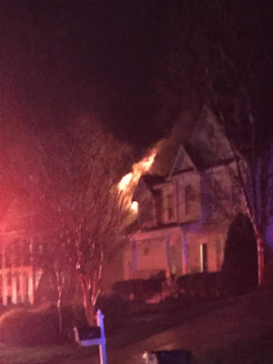 Neighbor's house on fire