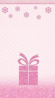 Fondos de navidad en Rosa.
