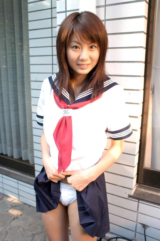 yuma asami sexy schoolgirl cosplay 01