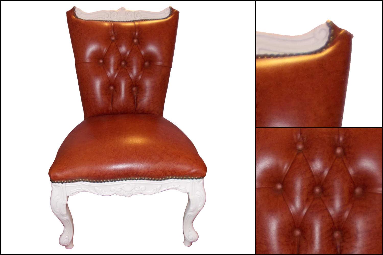 renat 39 art petite chaise gris et or. Black Bedroom Furniture Sets. Home Design Ideas