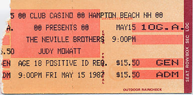 The Neville Brothers, May 15, 1987