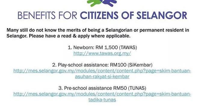 Benefit For Selangor Citizens
