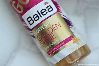 Review: Balea Body Spray - Golden Shine - www.annitschkasblog.de