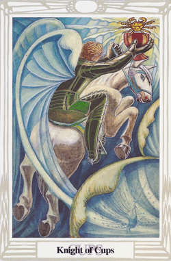 Crowley-Thoth Tarot: Knight of Cups