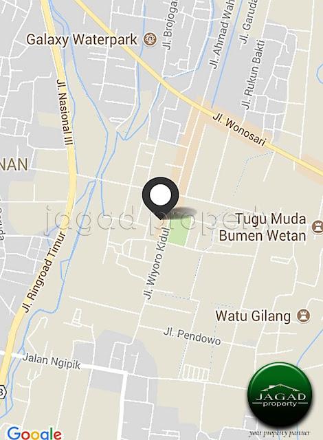 Tanah dekat Kota Jogja barat Lapangan Wiyoro