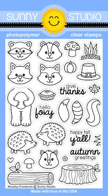 Sunny Studio Stamps: Introducing New Woodsy Creatures Stamp Set
