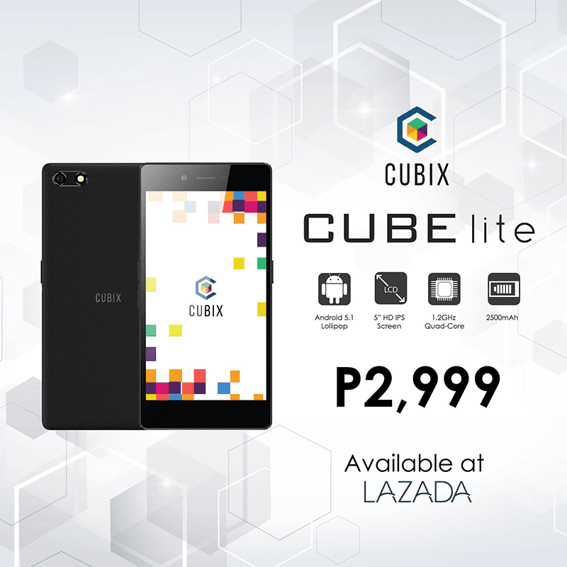 Cherry Mobile Cubix Lite Now Official! A 5 Inch HD Entry Level Phone For 2999 Pesos Only!
