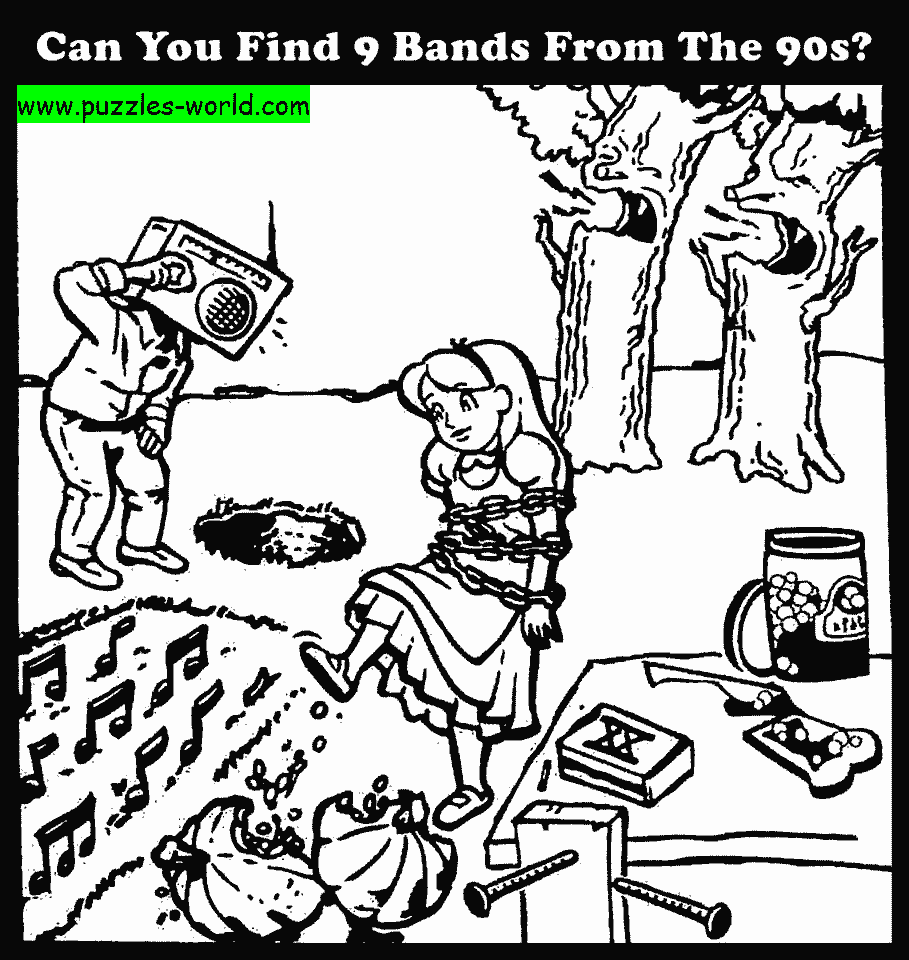 Can you find 9 bands puzzle