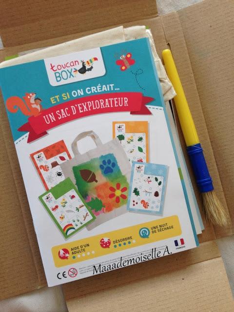 || Kit Créatif ToucanBox : Le sac d'explorateur + votre premier kit gratuit ! (Présentation & Avis)