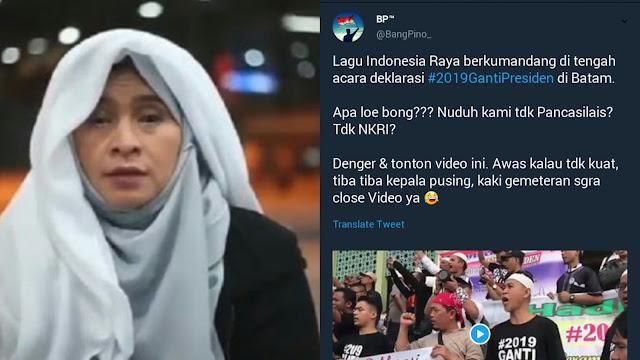 Merinding! Saat Lagu Indonesia Raya Berkumandang di Deklarasi #2019GantiPresiden Batam