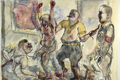G.Grosz  obraz pt. 'Przesłuchanie'