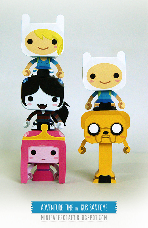 Adventure Time Paper Toys Papercraft Finn