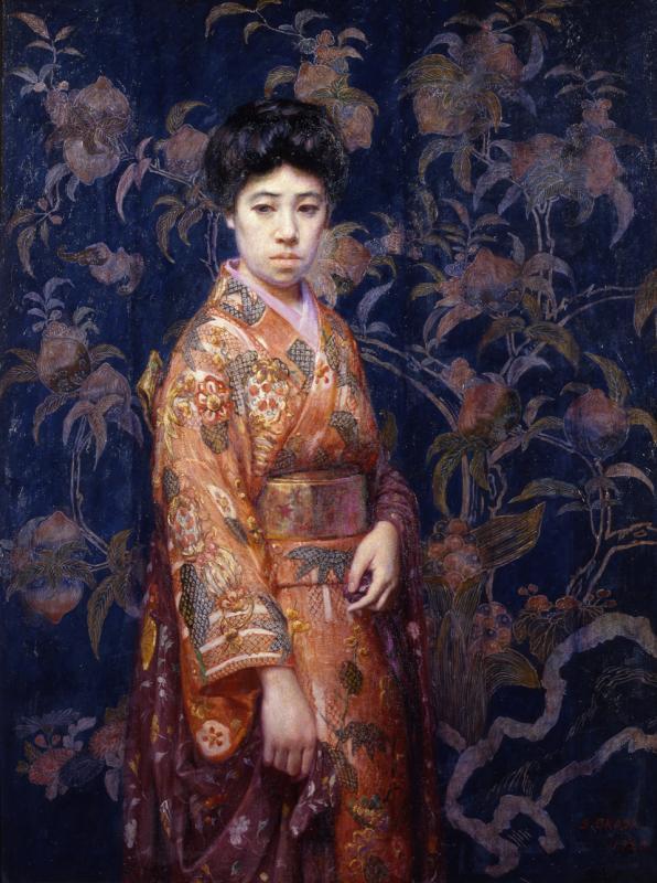 Японская живопись мастер класс видео + #5