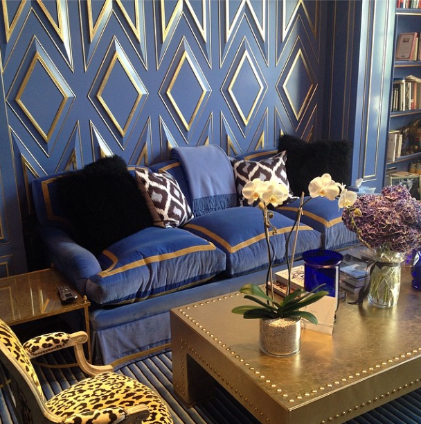 South Shore Decorating Blog: Blue And Gold Rooms And Decor